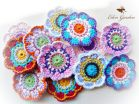 Set of 12 Crochet Flowers